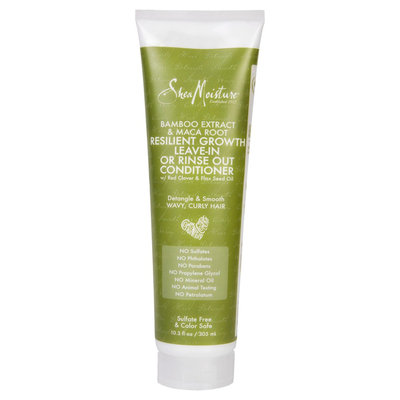 SheaMoisture Bamboo Extract & Maca Root Resilient Growth Leave In or Rinse Out Conditioner - 10.3oz