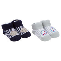 Baby Boys' 2 Pack Bootie Sock Sport/Monkey - Gerber, Grey