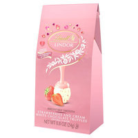 Lindt Lindor Strawberries & Cream White Chocolate Valentines Truffles