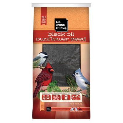 All Living Things® Black Oil Sunflower Seed Wild Bird Food size: 40 Lb