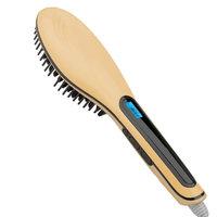 Tonewear Electric Turbo ion Hair Straightener Brush (Gold)