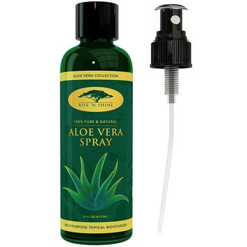 (16 oz) Aloe Vera Spray for Face - Pure Aloe Vera Plant Juice, Perfect topical Moisturizer for Face and Hair, Provides Relief for Sunburn, Eczema, Dry Damaged Skin, Razor Bumps, Acne and Aging Skin : Beauty