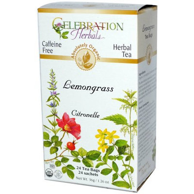 Celebration Herbals Lemongrass Herbal Tea, 24 count, 1.26 oz, (Pack of 3)