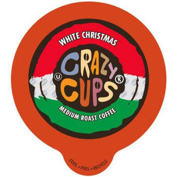 Crazy Cups White Christmas Flavored Coffee Single Cups For K cups Brewer, 22 Count