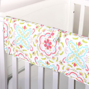 Gia Floral Crib Teething Rail Guard by The Peanut Shell