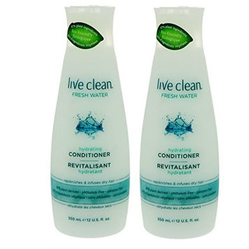Live Clean Fresh Water Hydrating Conditioner (Pack of 2) With Lavender Extract, Rosemary Leaf Extract and Vitamin E, 12 fl. oz. Each