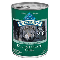 Blue Buffalo Wilderness Low Carb Duck & Chicken Grill Wet Dog Food, 12.5 Oz (Case of 12)