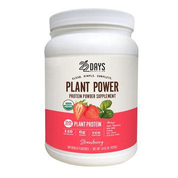 22 Days Plant Power Protein Powder Supplement Strawberry - 14.01Oz