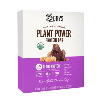 22 Days Nutrition Plant Power 22 Days Nutrition Peanut Butter Chocolate Chip Protein Bar - 6.21Oz