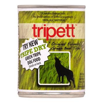Petkind Tripett Grain-Free Green Beef Tripe Wet Dog Food, 13 Oz (Pack of 12)