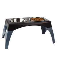Top Paw® Elevated Double Dog Feeder size: 11 in, Gray