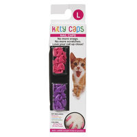 Kitty Caps Cat Nail Caps size: Large, Multi-Color