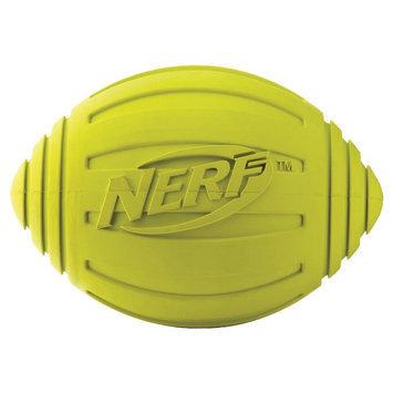 Little Gifts, Inc. Nerf Dog Ridged Squeak Football Dog Toy Green