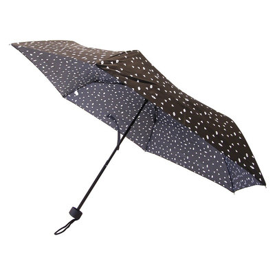 French Toast Travel Umbrella, Black, Compact Umbrella