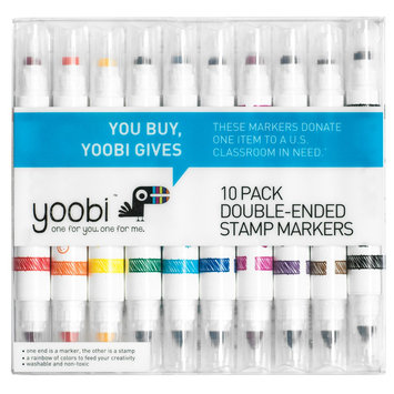 Yoobi Double Ended Stamp Markers, 10ct, Multi-Colored