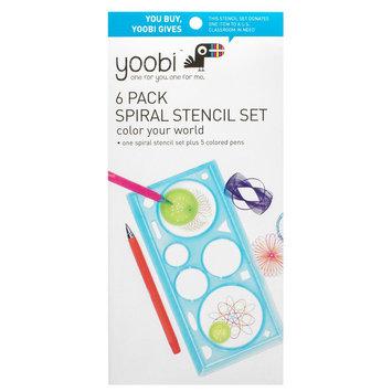 Yoobi Stencil Kit with Pens, Multi-Colored