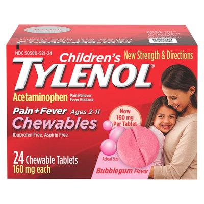 Tylenol Children's Chewables Bubblegum - 24ct
