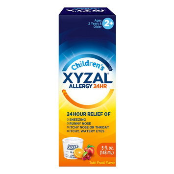 Xyzal Children's 24 Hour Allergy Relief Tutti Frutti Liquid Syrup - 5oz