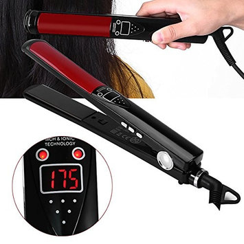 Hair Straightener, LCD Display Professional Adjustable Ceramic Temperature Vapor Flat Iron Salon Hair Straightening Hair Styling Tools