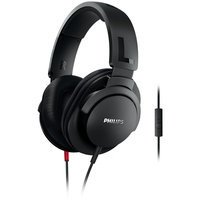 Philips Over the Ear Headphones with Mic - Black