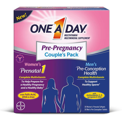 One A Day Pre-Pregnancy Couple's Pack - 60 Count