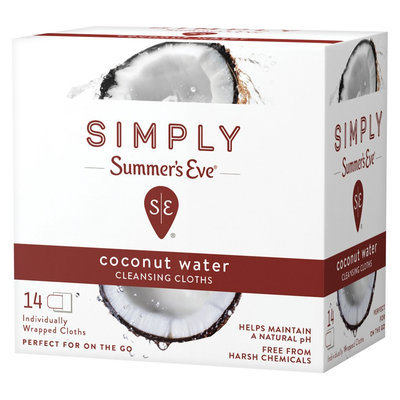 Simply Summer's Eve Coconut Water Feminine Wipe - 14ct, None - Dnu