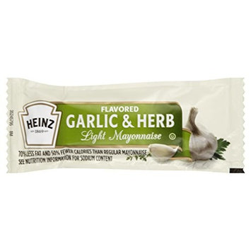 Heinz Light Mayonnaise with Garlic & Herb Single Serve (12g Packets, Pack of 200)