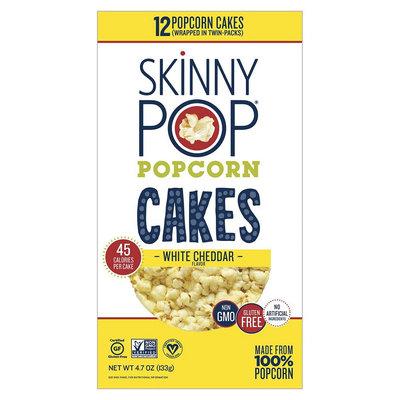 SkinnyPop®  Large Popcorn Cakes Skinny Pop White Cheddar