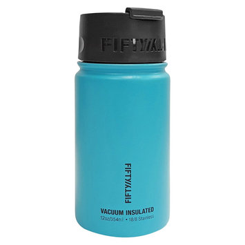 Fifty Fifty Fifty/Fifty 12 oz Bottle With Flip Top Lid - Aqua (Blue)
