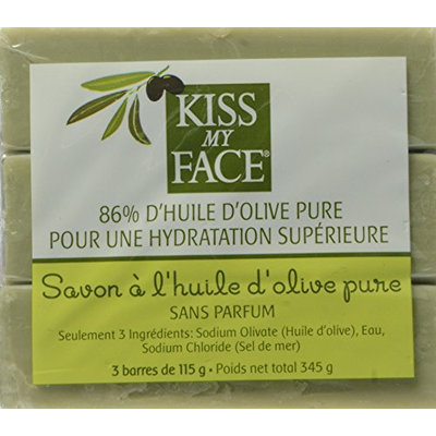 Kiss My Face Naked Pure Olive Oil Bar Soap