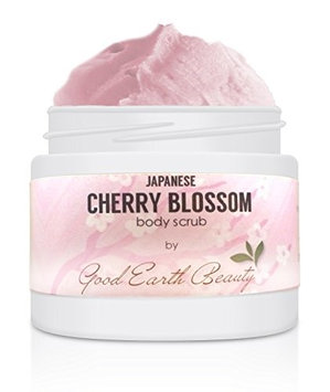Body Scrub Japanese Cherry Blossom - all natural sugar scrub by Good Earth Beauty