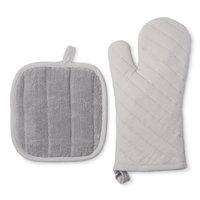 (2Pk) Silver Kitchen Textile Set - Room Essentials, Sleek Silver