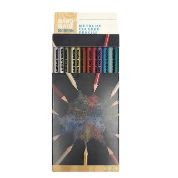 Hand Made Modern - Metallic (Grey) Colored Pencils, 12ct