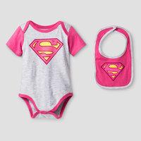 Baby Girls' Supergirl Bodysuit Sets Grey - Warner Bros. 3-6M, Gray