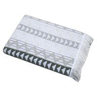 Triangle Geo Bath Towel - Gray - Nate Berkus, True White Opaque