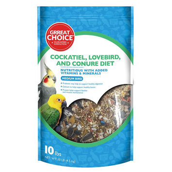 Grreat Choice® Cockatiel Bird Food size: 10 Lb