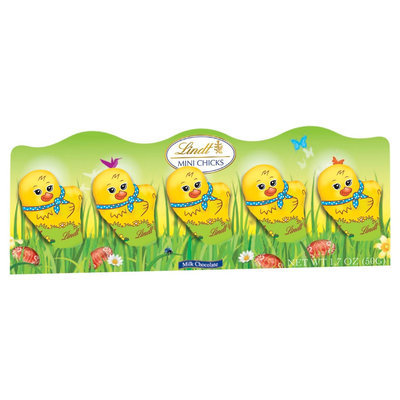 Lindt Easter Mini Chicks Milk Chocolate, 5 count, 1.7 oz (Pack of 2)