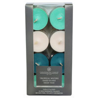 Tealight Candle Multipack - Tropical Waters - Chesapeake Bay Candle, White/Light Blue/Dark Blue