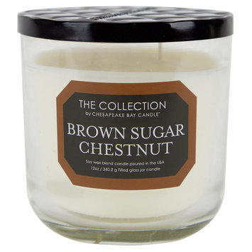 Jar Candle - Brown Sugar Chestnut - THE Collection, Beige