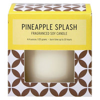 Boxed Glass Candle - Pineapple Splash - SoHo Brights, Yellow