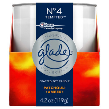 Glade Candle, No 4 Tempted, 4.2oz, Blue