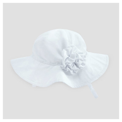 Baby Girls' Floppy Hat Cat & Jack - White 12-18 M