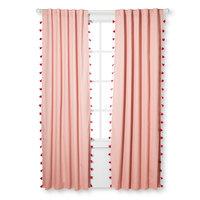 Tassel Light Blocking Window Curtain Pink (84
