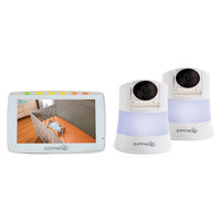 Summer Infant 5 Wide View Duo 2.0 Video Baby Monitor with 2 Cameras, White