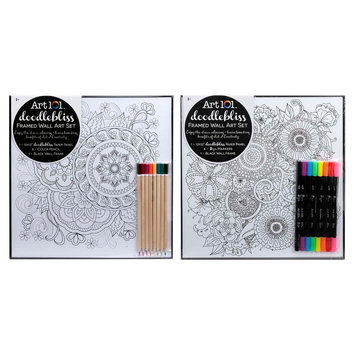 Art 101 Doodlebliss Framed Wall Art with 2-Tip Makers