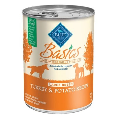 Blue Buffalo Basics Large Breed Turkey & Potato Canned Adult Dog Food, Case of 12