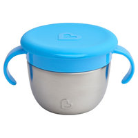 Munchkin Snack+ Stainless Steel Snack Catcher with Lid - Blue