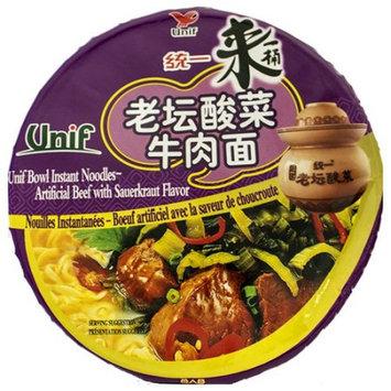 UNIF Bowl Instant Noodles -Chinese Sauerkraut Flavor 110g