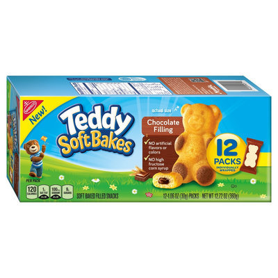 Nabisco Teddy Soft Bakes Chocolate Filling 12ct Traypack 12.72 oz