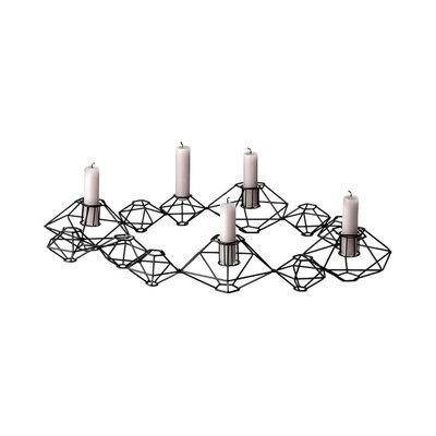 Bloomingville Pernille Metal 12 Light Candelabra, Matte Black